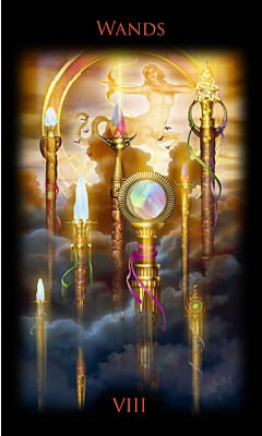 8 de Bâtons - Legacy of the Divine Tarot