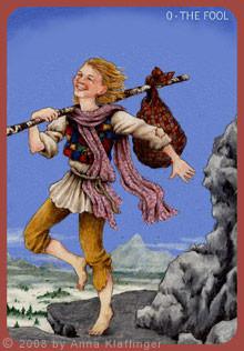 Le Fou - Le tarot d'Anna K.