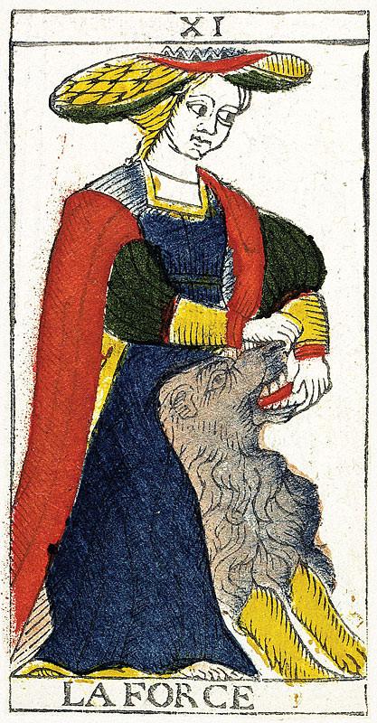 XI La Force - Tarot de Pierre Madenié 1709 - Restauration de Y. Reynaud et W. Houdouin
