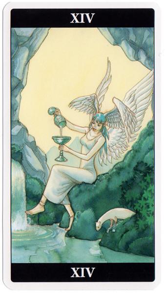 XIV Tempérance - Le tarot de l'Enchanteresse des Rêves