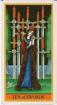 10 d'Épées - Le tarot de la Roue de Dame Fortune