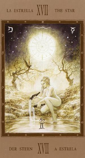 XVII L'Étoile - Labyrinth Tarot