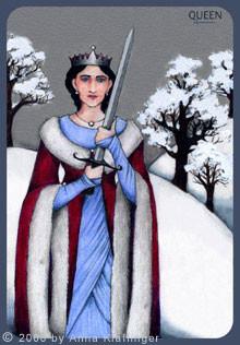 Reine d'Épées - Le tarot d'Anna K.