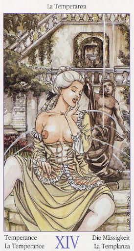 Tarot de Casanova - Érotique - XIV Tempérance