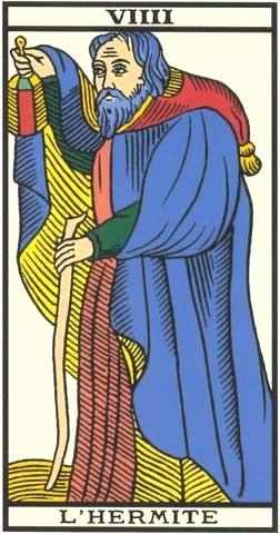 Viiii l 39 hermite symbolisme apprendre le tarot de - Veritable tarot de marseille gratuit ...
