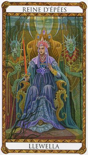Reine d'Épées - Le tarot d'Ambre