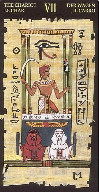 VII Le Chariot - Le tarot Égyptien