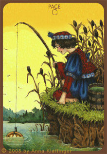 Page de Deniers - Le tarot d'Anna K.