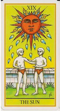 XIX Le Soleil - Le tarot de la Roue de Dame Fortune