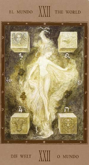 XXI Le Monde - Labyrinth Tarot