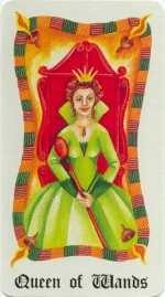 Reine de Bâtons - Le Tarot Fenton-Bale