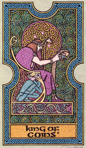 Roi de Deniers - Le tarot Celtique