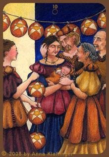 10 de Deniers - Le tarot d'Anna K.