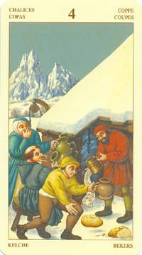 4 de Coupes - Le tarot Bruegel