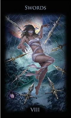 8 d'Épées - Legacy of the Divine Tarot