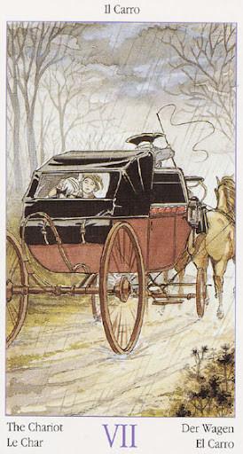 Tarot de Casanova - Érotique - VII Le Chariot