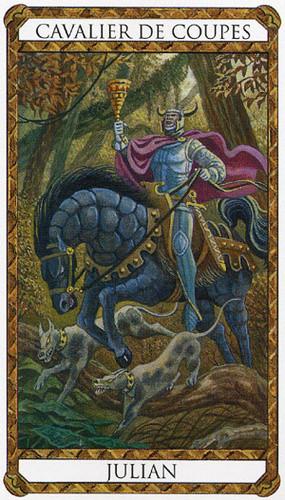Cavalier de Coupes - Le tarot d'Ambre