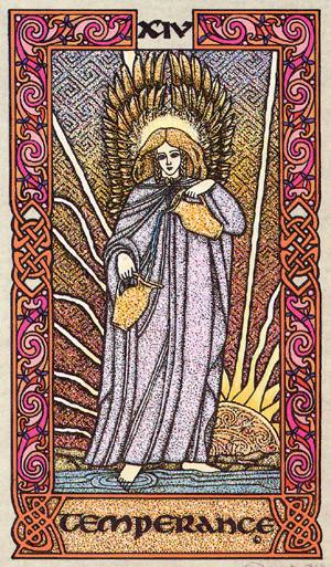XIV Tempérance - Le tarot Celtique