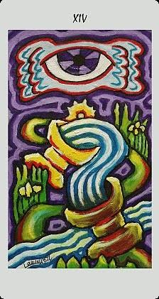 XIV Tempérance - Langustl Tarot