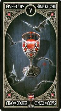 Gothic Tarot - 5 de Coupes