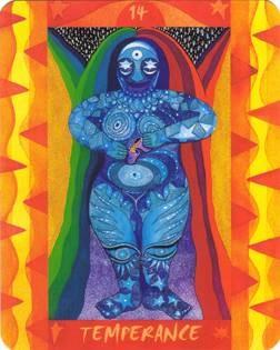 XIV Tempérance - Le Tarot des Quatre Éléments