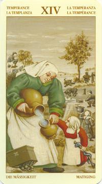 XIV Tempérance - Le tarot Bruegel