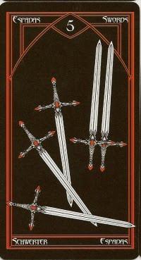 5 d'Épées - Le tarot Cruel Thing