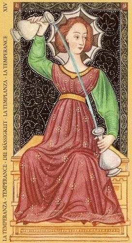 Golden Tarot of the Renaissance - XIV Tempérance