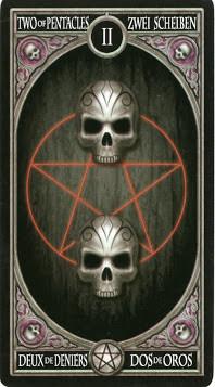Gothic Tarot - 2 de Deniers