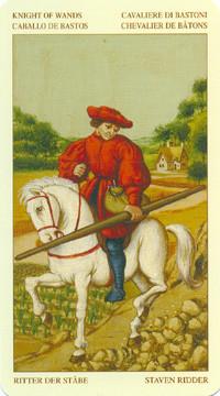 Chevalier de Bâtons - Le tarot Bruegel