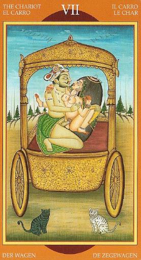 Kamasutra Tarot - Érotique - VII Le Chariot