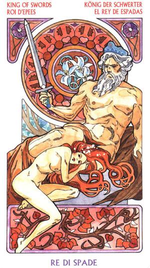 Roi d'Épées - Le tarot Art Nouveau