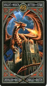 Gothic Tarot - Chevalier de Bâtons