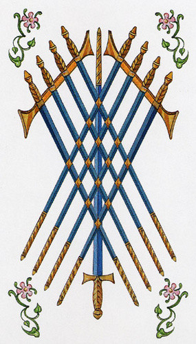 9 d'Épées - Le tarot d'Ambre