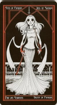 Valet d'Épées - Le tarot Cruel Thing