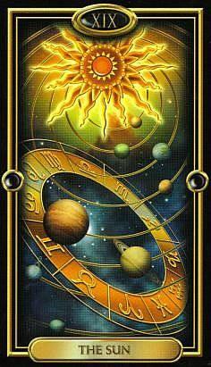 XIX Le Soleil - The Gilded Tarot
