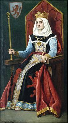 Urraque Ière, Reine de Castille et Léon, XIe siècle.
