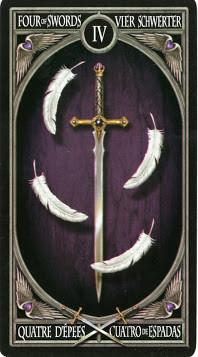 Gothic Tarot - 4 d'Épées