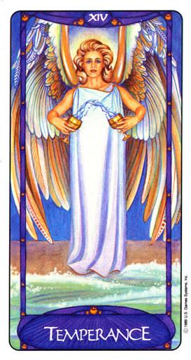 XIV Tempérance - Le tarot Art Nouveau de Myers