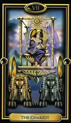 VII Le Chariot - The Gilded Tarot