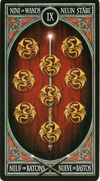 Gothic Tarot - 9 de Bâtons