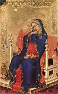 L'Annonciation, Simone Martini, 1333