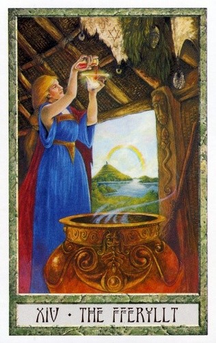 XIV Tempérance - Le tarot Druid Craft
