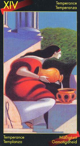 XIV Tempérance - Le tarot de Dante