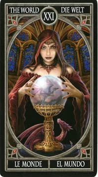 Gothic Tarot - XXI Le Monde
