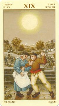 XIX Le Soleil - Le tarot Bruegel