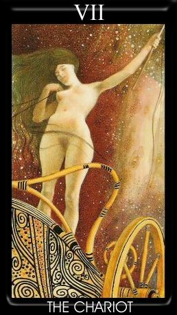 VII Le Chariot - Golden Tarot of Klimt