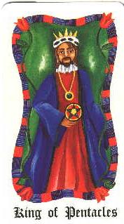 Roi de Pentacles - Le Tarot Fenton-Bale