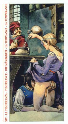 Decameron Tarot - Érotique - XIV Tempérance