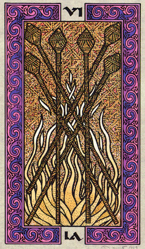 6 de Bâtons - Le tarot Celtique
